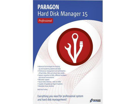 Paragon Software Group Corp Hard Disk Mgr 15 Pro Adv Wstation Ed Esd - MyChoiceSoftware.com