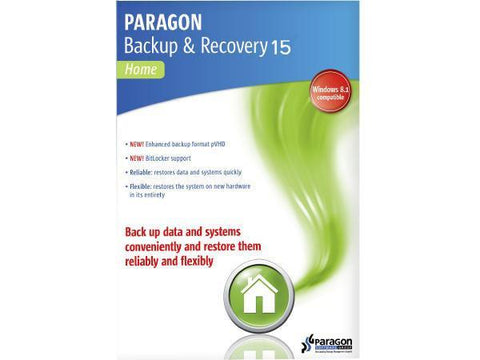 Paragon Software Group Corp Backup & Recovery 15 Home 3 Pack Esd - MyChoiceSoftware.com