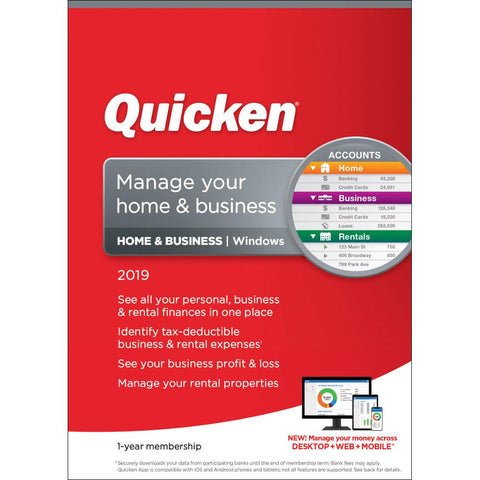 Intuit Quicken Home & Business 2019