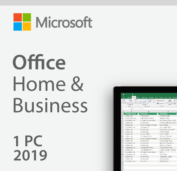 Microsoft Office 2019 Home & Business - License - 1 PC/Mac