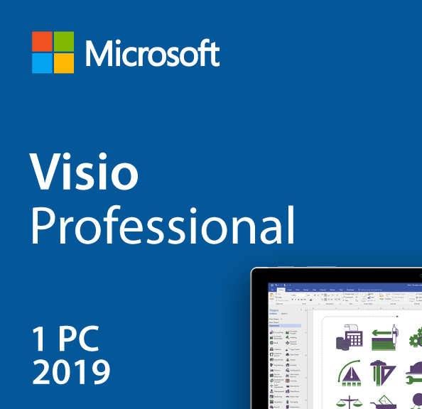 Microsoft Visio Professional 2019 Retail Box My Choice