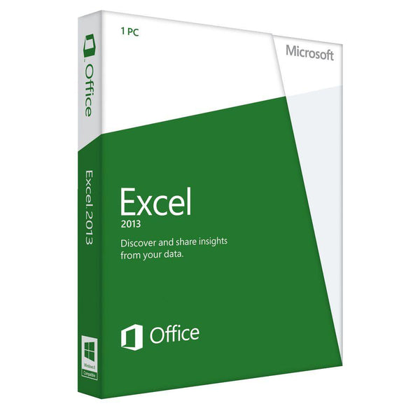 Microsoft Excel 2013 Retail Box Home Use Non Commerical ...