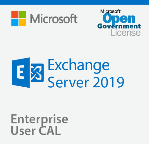 Microsoft Exchange Server 2019 Enterprise User CAL - Open Government