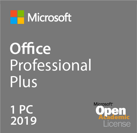 Microsoft Office Professional Plus 2019 - Open Academic | Microsoft