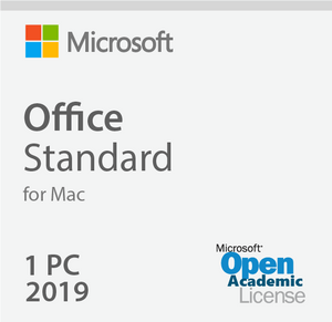 Microsoft Office 2019 For Mac Standard - Open Academic Deal