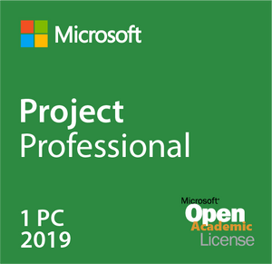 Microsoft Project Professional 2019 Open Academic Deal