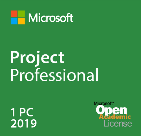 Microsoft Project Professional 2019 Open Academic