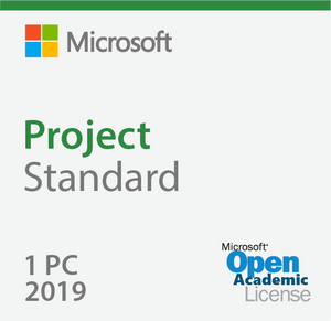Microsoft Project Standard 2019 - Open Academic Deal