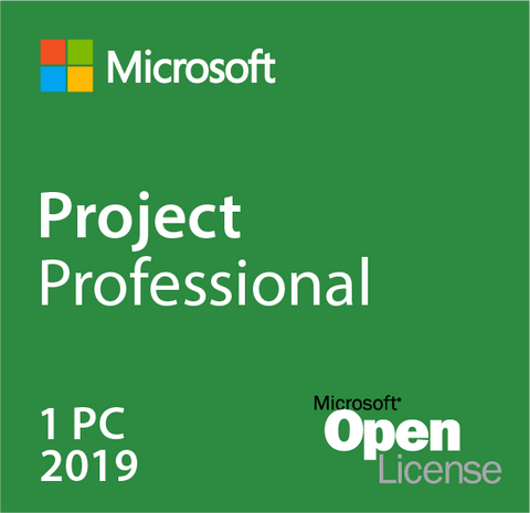 Microsoft Project 2019 Professional w/ 1 Server CAL Open License | Microsoft