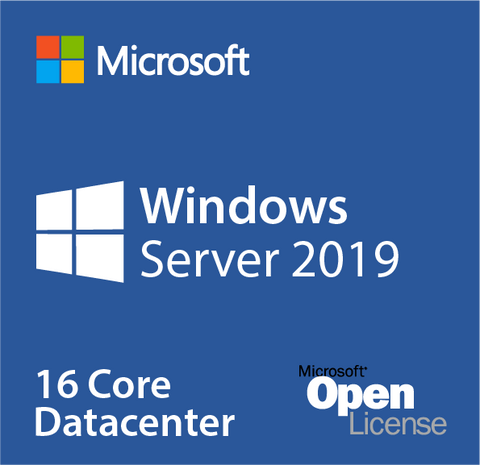Microsoft Windows Server 2019 Datacenter 16 Cores Open License w/ Software Assurance