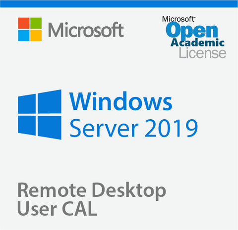 Microsoft Windows Server 2019 Remote Desktop User CAL - Open Academic | Microsoft
