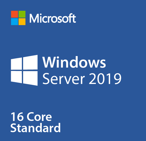 Microsoft Windows Server 2019 Standard 16 Core License.