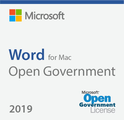 Microsoft Word 2019 for Mac - Open Government