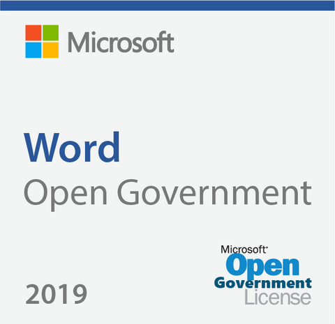 Microsoft Word 2019 - Open Government