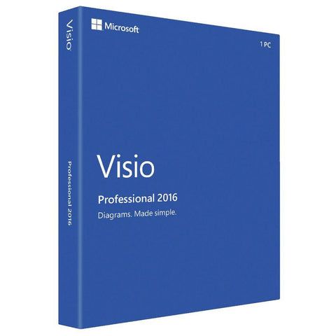 Microsoft Visio Professional 2016 - Instant License (Full Upgrade)