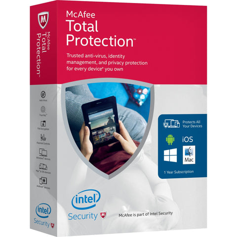 Mcafee Total Protection 1 user 3 PC License - MyChoiceSoftware.com