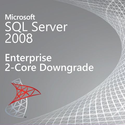Microsoft SQL Server 2008 Enterprise 2 Core Downgrade [810-07364]