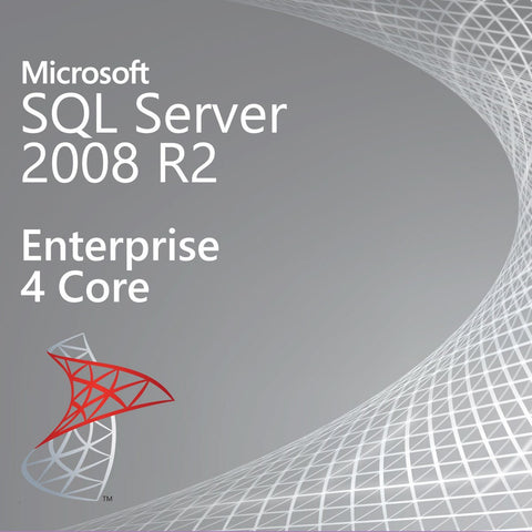 Microsoft SQL Server 2008 R2 Enterprise 4 Core Instant License