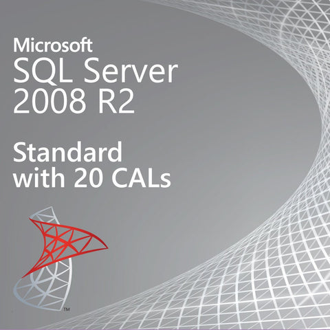 Microsoft SQL Server 2008 R2 Standard with 20 CALs - Retail | Microsoft