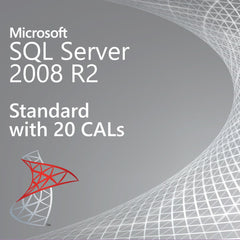 Microsoft SQL Server 2008 R2 Standard with 20 CALs - Retail