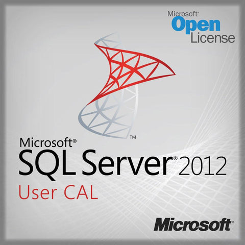Microsoft SQL Server 2012 PC 1 User CAL