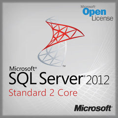 Microsoft SQL Server 2012 Standard 2 Core - Open License