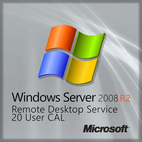 Microsoft Server 2008 R2 RDS 20 User CAL Same Day Delivery