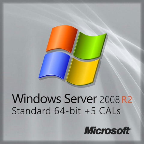 Microsoft Windows Server 2008 R2 Standard X64 Server 5 Cals OEM