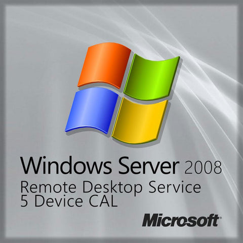 Windows Server 2008 Remote Desktop - 5 Device CAL