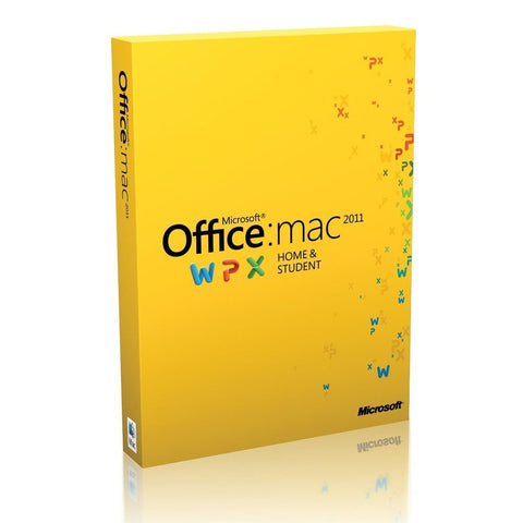 Office Mac Home & Student 2011 Key Card 1PC/1User