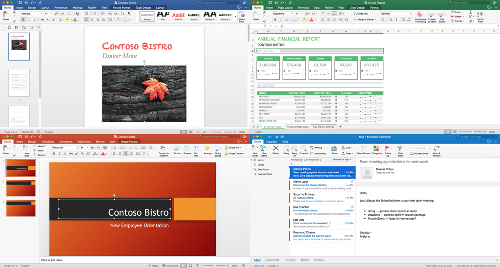 Microsoft Office 2016 >> Microsoft Office 2016 For Mac 365