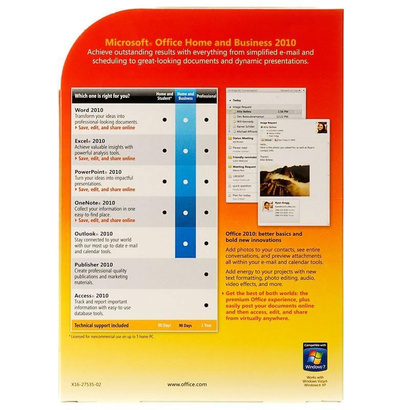 Microsoft office 2010 home and student buy online