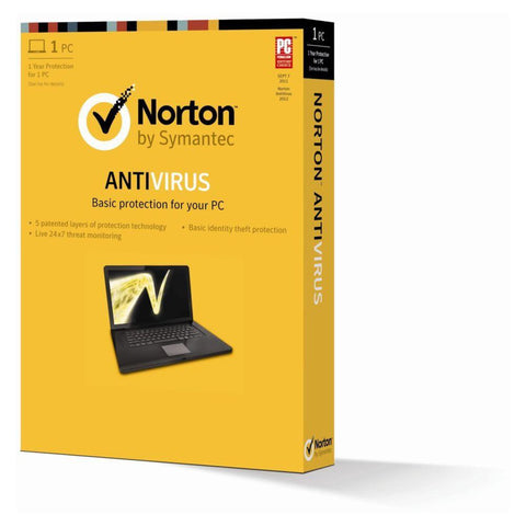 Norton AntiVirus - 1 PC 1 Year - Retail Box - MyChoiceSoftware.com