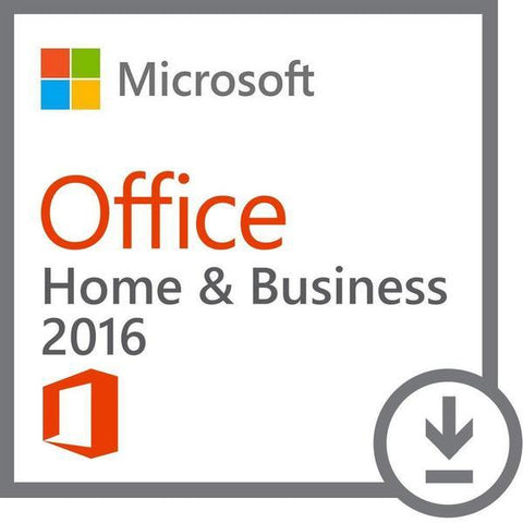 Microsoft Office 2016 Home and Business Retail Box PKC