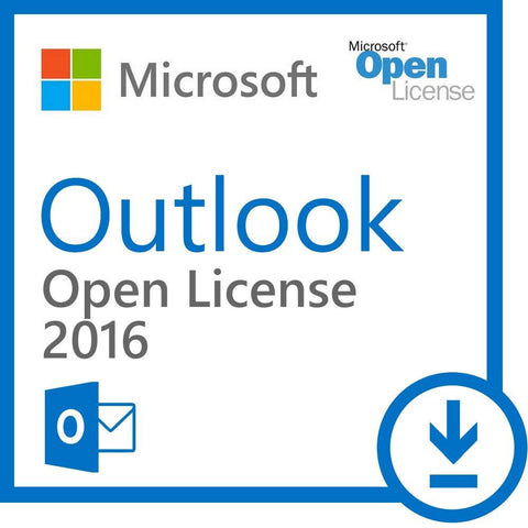 Microsoft Outlook 2016 Open License.