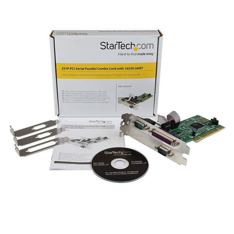 StarTech 2S1P PCI Serial Parallel Combo Card with 16550 UART - MyChoiceSoftware.com