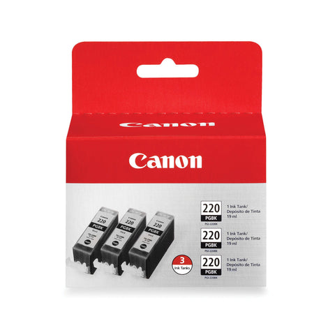 Canon 220 Black 3 Pack