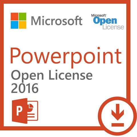 Microsoft Powerpoint 2016 - Open License - MyChoiceSoftware.com - 1