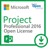 Microsoft Project 2016 Professional with 1 Server CAL - Open License.