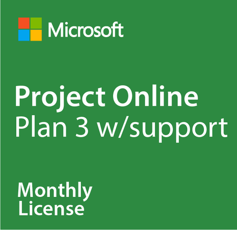 Microsoft Project Online Plan 3 w/ Support - Monthly