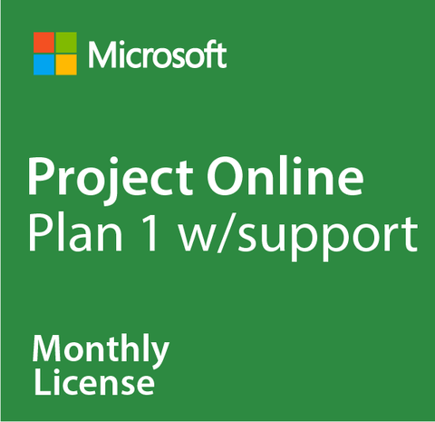 Microsoft Project Online Plan 1 w/ Support - Monthly