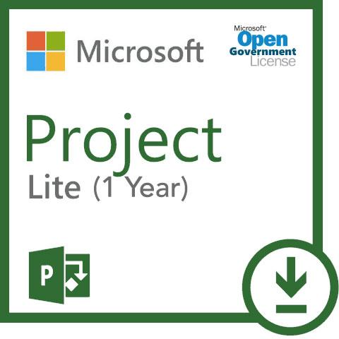 Microsoft Project Windows Lite Subscription Open Gov (1 Year Subscription) 3PP-00007