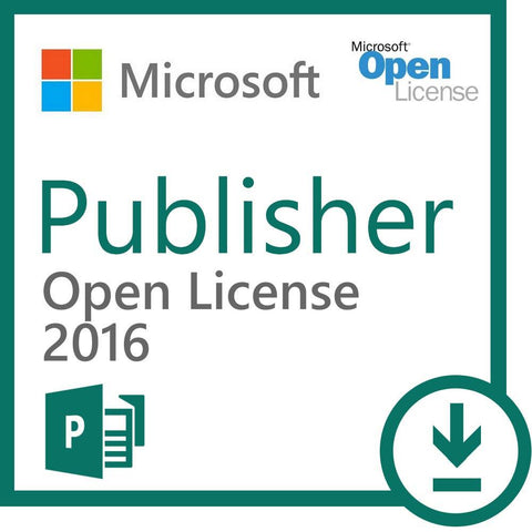 Microsoft Publisher 2016 Open Government