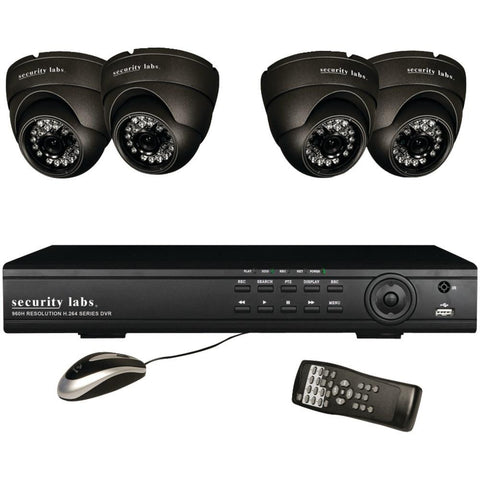 Security Labs 4-channel 960h 4-camera System - MyChoiceSoftware.com - 1
