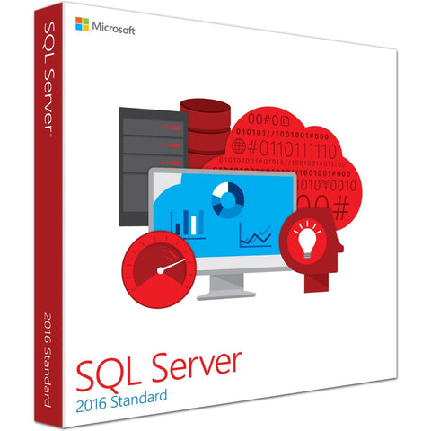 Microsoft SQL Server 2016 Standard Retail Box - with 10 Clients