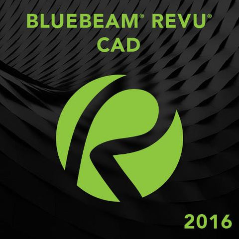 Bluebeam Revu CAD 2016.5 - 1 seat (Tier 1-4 seats)