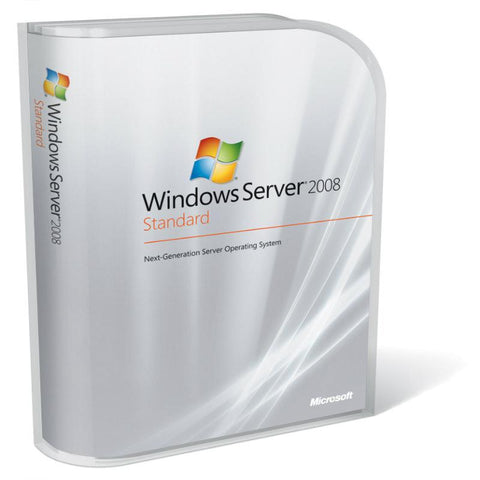 Microsoft Windows Server 2008 R2 Standard With 5 Clients.