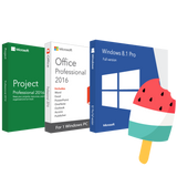 Microsoft Windows 8.1 Pro + Office Professional 2016 + Project 2016 Pro