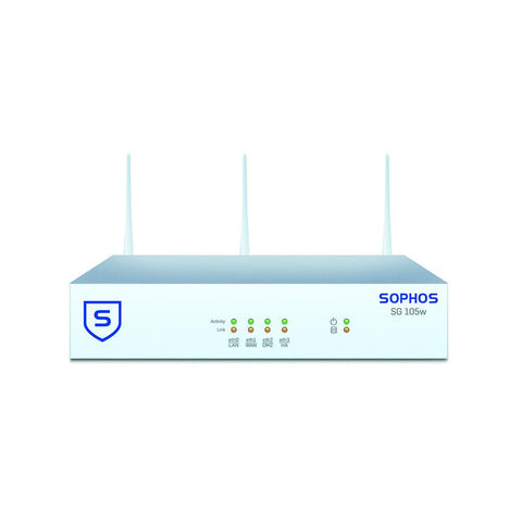 Sophos SG 105w UTM Wireless Appliance TotalProtect Bundle with 4 GE ports, FullGuard License, Premium 24x7 Support - 1 Year