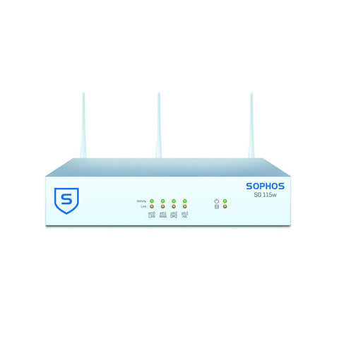 Sophos UTM SG 115w Wireless Security Firewall with 4 GE ports, HDD + Base License for Unlimited Users (Appliance Only)